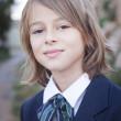 Child in school uniform — Stock Photo