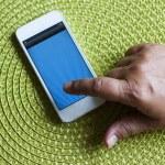 Hand using smartphone — Stock Photo #29742263