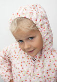Child in raincoat — Stock Photo