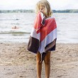 Child with towel — Stock Photo