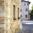 Street in old italian village — Stock Photo