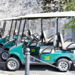 Golf carts — Stock Photo