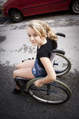 Child in wheelchair — 图库照片