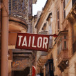 Sign reading Tailor in Valletta, capital city of Malta — ストック写真