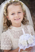 Gril Holy communion — Stock Photo