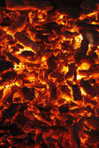 Flaming charcoal — Stock Photo