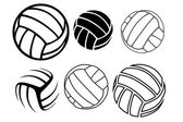 VOLLEYBALLS — Stock Vector