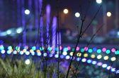 Lampadaires de la ville nuit — Photo