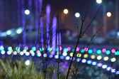 Luces de calle de la ciudad de noche — Foto de Stock