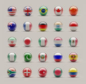 Sphere Flags — Stock Photo