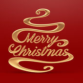 Merry Christmas with Clipping Path — Stock Photo