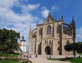 Kutna Hora - Church of St. Barbara — Stock Photo