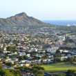 Honolulu and Diamond Head on Oahu, Hawaii. — Stock Photo