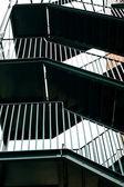Covered fire escape — Stock Photo