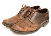 Old brown shoes — Stock Photo