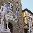 David by Michelangelo. Sculture in Firenze - Stok fotoğraf