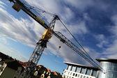 Crane - Construction Process — 图库照片