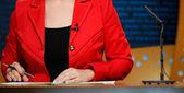 TV studio for news — Stock Photo