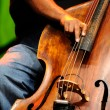Stock Photo: Double bass player - Classic Jazz
