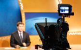 Videokamera in Tv-Nachrichten-studio — Stockfoto