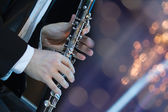 Playing the clarinet — Stock Photo