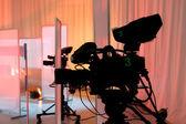 TV studio with camera — Stock Photo