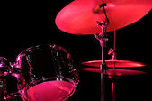 Drum Kit on the stage — Stock Photo