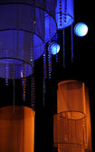 Stage lights - Studio for production TV show — Stok fotoğraf