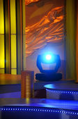 Stage lights - Studio for production TV show — Stock Photo