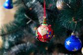 Новый год, Рождество, Праздничная ель, елочные игрушки — Стоковое фото