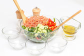 Salad with shrimp — Stock Photo
