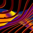 Abstract colourful iridescent figures — Stock Photo