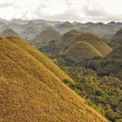 Stock Photo: Panoramic view of Chocolate Hills in Bohol, Philippines.