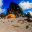 Stock Photo: LavTower camp on Mt. Kilimanjaro in Tanzania, Africa