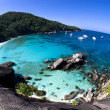Stock Photo: Tropical island bay overview from high point in SimilIslands, Thailand