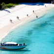 Honeymoon Bay on island no. 7 in the Similan Islands. The bay is visited by liveaboard dive boats and speedboats on scuba diving safaris from Phuket and Khao Lak, Thailand. - Stock Photo