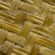 Textured pattern background of old bamboo wall on tropical bungalow in close-up — Stock Photo