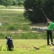 Stock Photo: Golfer on St Andrews golf course near Pattaythailand