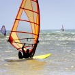 Stock Photo: Mwindsurfing in Morocco