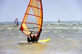 Man windsurfing in Morocco — Stock Photo