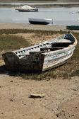 Beached fishing boat in Sancti Petri, Spain. — Stock Photo