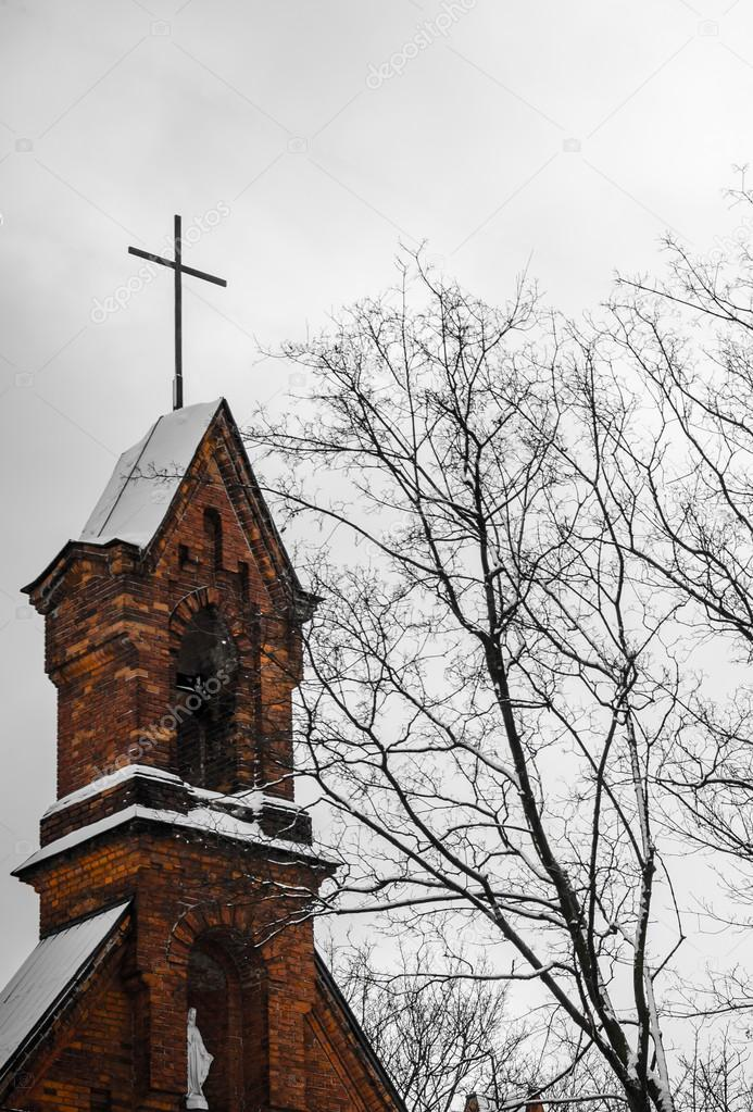 Top of Virgin Mary Church at winter — Stock Photo #18974997