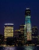 Night skyscraper — Stock Photo