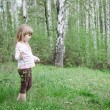 Little girls in the forest — Stock Photo