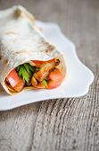 Tortilla or burritos closeup — Stock Photo