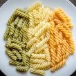 Stock Photo: Fusilli pastitaliflag