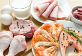 Ingredients for protein diet — Stock Photo