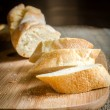 Sliced french bread baguette — Stock Photo