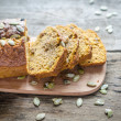 Loaf of pumpkin bread — Stock Photo