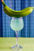Cocktail with green banana — Stock Photo